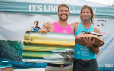 Joel Tudor and Kelis Kaleopaa Claim Historical Victories at Noosa with Kevin Skvarna taking Second!